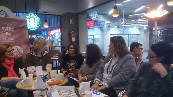 Algunas de ls participantes en #MaMoocafé #Madrid @educandoando #Moocafé #EduPLEMooc @EduPLEMooc Ronda d presentación http://t.co/MXDVwKIAAS
