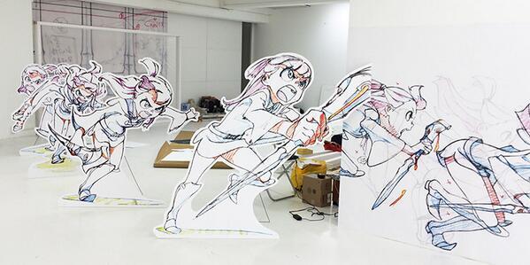 土曜から開催する「『リトルウィッチアカデミア』とアニメミライ」展(