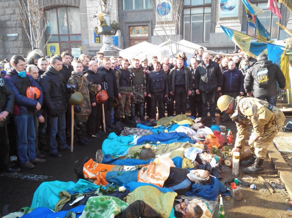 """The Maidan fighters say their goodbyes to their murdered friends"". #Ukraine #Kyiv #SOS #digitalmaidan http://t.co/16UZJK8kXe"
