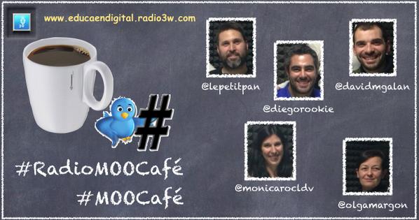 ¿Preparados? en unos minutos #RadioMOOCafé #MOOCafé ¿quieres un café? ¿te sumas al debate con ellos?en @Radio_3W http://t.co/I3EOO72sLQ