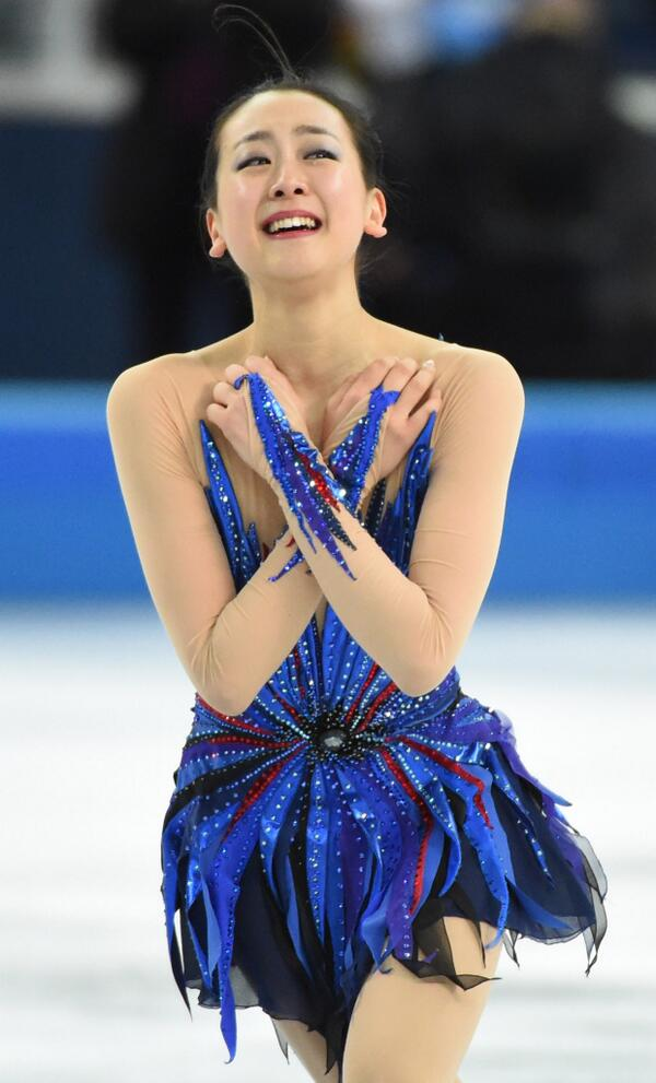 Amazing pic of Mao Asada's skate from @USATsportsImage Check out what she did here: http://t.co/V1p0f6rVnt #SochiSMG http://t.co/LezjQjlzBd