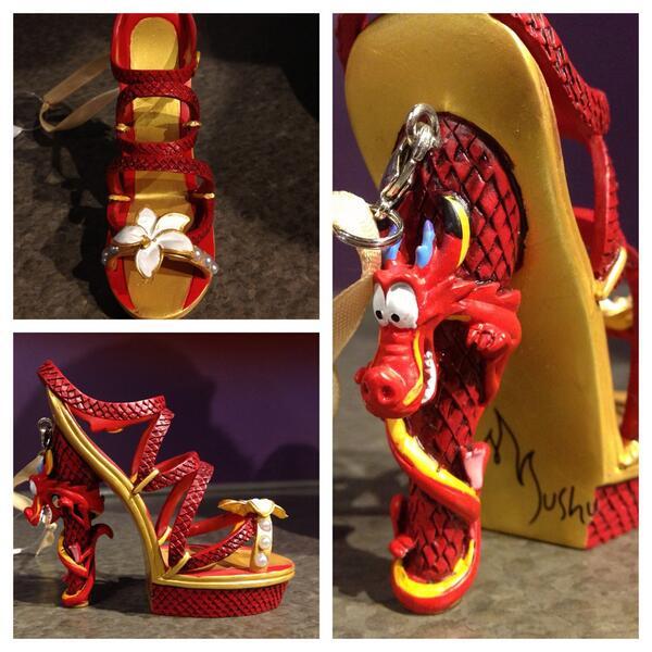 New Mushu/Mulan shoe ornament at DTD