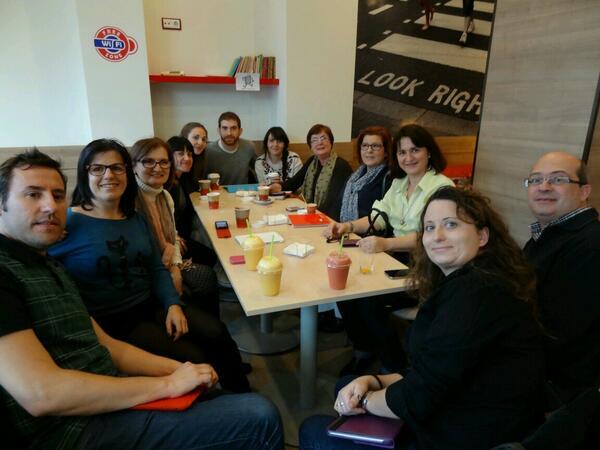 #MOOCafe #MOOCafeMurcia #retoappaseducativas aqui esta el grupo de los 12 de Murcia. Ha sido una gran experiencia. http://t.co/u78yT7lihg