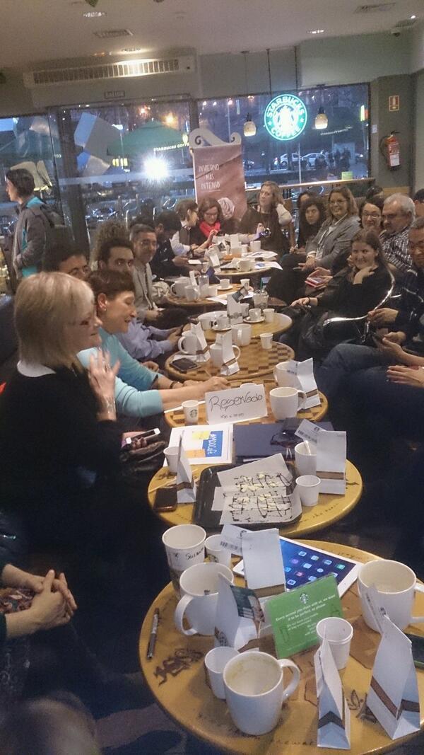 Aspecto de tod@s l@s docentes en #MaMoocafé #Moocafe #Madrid Éxito de convocatoria @mjgsm #EduPLEMooc @eduPLEmooc http://t.co/tbEFmf8G8J