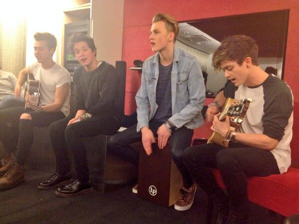 The adorable @TheVampsband serenaded us today and it was magical. #Swoon http://t.co/Dg9ddIVI60