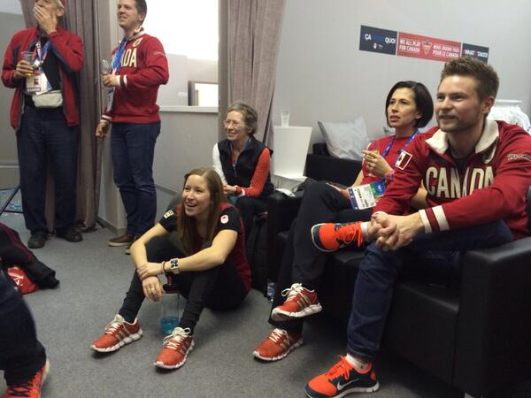 Tie game!!! Watching Canada vs US with @LKLawes, @JillOfficer and @MikeMcEwen80 http://t.co/JBf54ooWvI