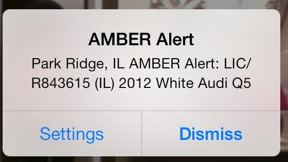 Amber alert in Park Ridge #Chicago #AmberAlert #audi http://t.co/ju2OIvDwoA