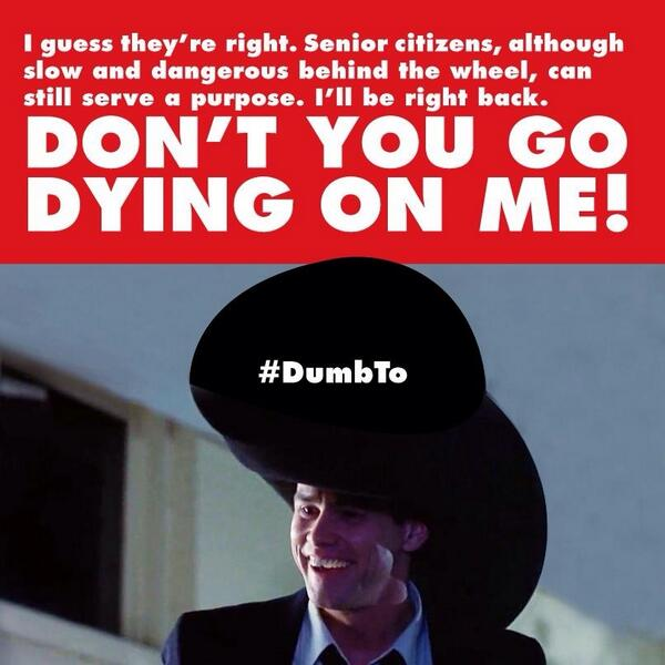 Dumb And Dumber Quotes | Dumb Dumber Quotes On Twitter Excuse Me Little Old Lady Do You