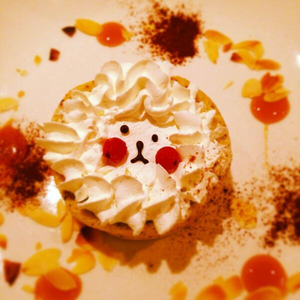 ベビーキングキッチンの姉妹店、All c's Cafeのケーキ。モンブライオンだっけ? (再掲) #高円寺の旨い写真
