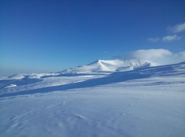 夜にふかふかの雪が積もり、今朝はこの天気(^^) http://t.co/ek93kbvAxU