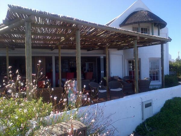 Loving the new @ReubenRiffel deck @AbaloneHouse. Great Sunday Lunch spot with Paternoster sea views. http://t.co/6MNQODMQiq
