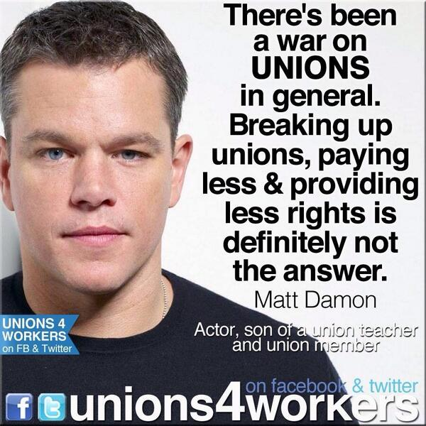 MT. @DemInPGH RT @unions4workers @rweingarten another great quote from Matt Damon at the Save Our Schools March. #1u http://t.co/DY7JVxbgpF