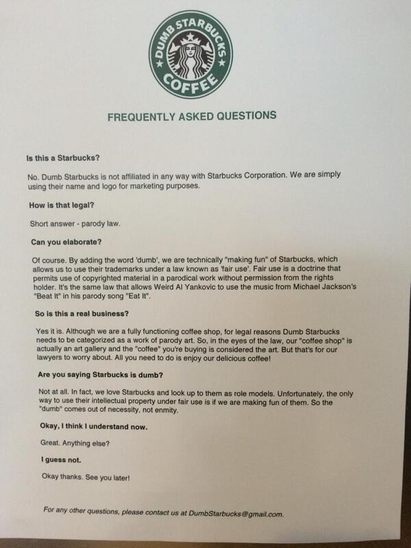 Dumb Starbucks coffee shop opens in L.A. under 'parody art' - Your ...