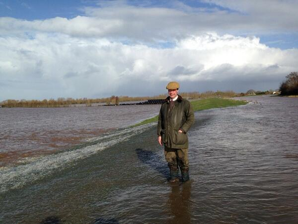 .@Nigel_Farage has today visited the Somerset Levels to see for himself the extent of and damage done by the floods http://t.co/bW84dpIuHo
