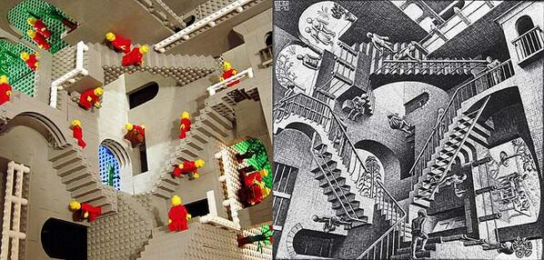 Very Clever M.C Escher Lego [8 Great Pics] http://t.co/7XvS3NhnvO :: http://t.co/iGDeSaIGP6
