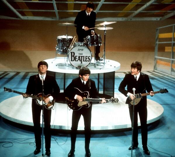 50 years ago: The Beatles' record-breaking first live appearance on the Ed Sullivan Show.  http://t.co/5Ww7nvPXA8 http://t.co/h4PKhmrwJJ