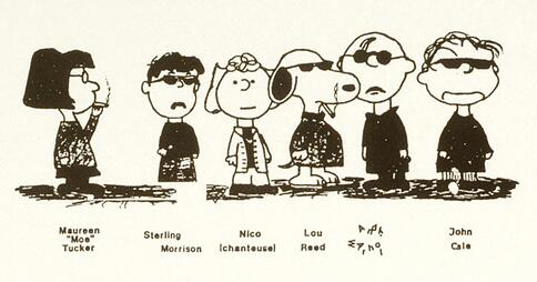 Velvet Underground Realized as Peanuts Characters Feat. Charlie Brown as Andy Warhol http://t.co/ZOnfB0E5Do