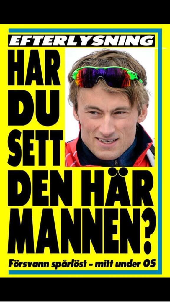 Hehe, sylfrekk Northug-løpeseddel fra Expressen. http://t.co/Bv5TcX4UYF