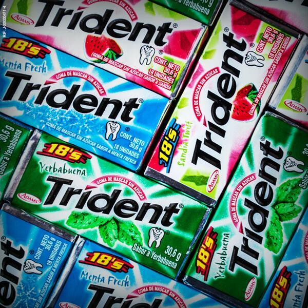 Como el Tetris, pero con más sabor… #trident #menta #patilla #yerbabuena #colorful http://t.co/ZrlrknUg89
