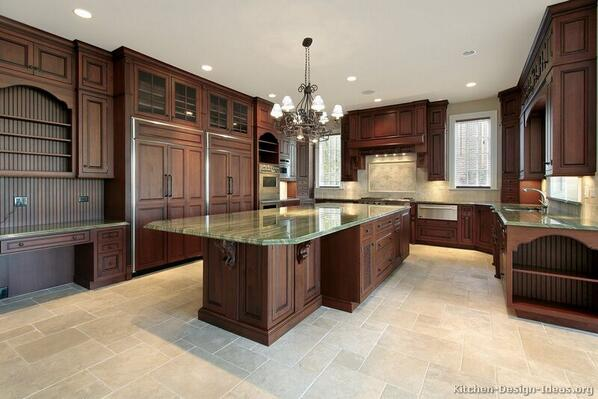 Kitchen Design Ideas On Twitter Kitchen Of The Day Traditional Dark Cherry Stained Kitchens Http T Co Feumiibpkf Http T Co Id4g4n2wg7