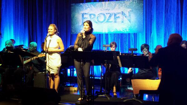 Kristen Bell and Idina Menzel performing together tonight at Disney's tribute to the music from #Frozen. http://t.co/cPrzkfNHse