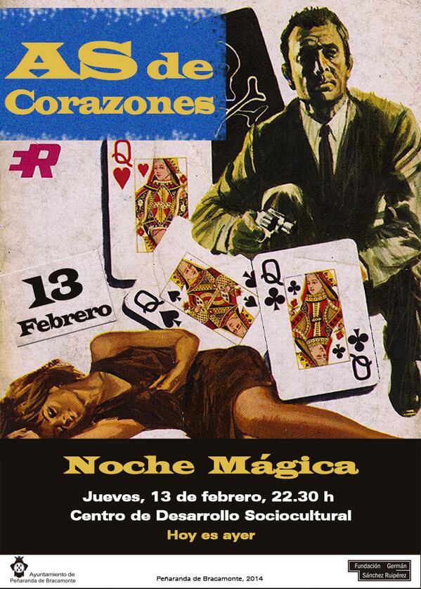 13 de febrero, 22.30 h. #AsdeCorazones en @fgsrcds ¡Te esperamos! :) Dinamización expo #HoyesAyer #Confiesoqueheleído http://t.co/iNypSU9N6W