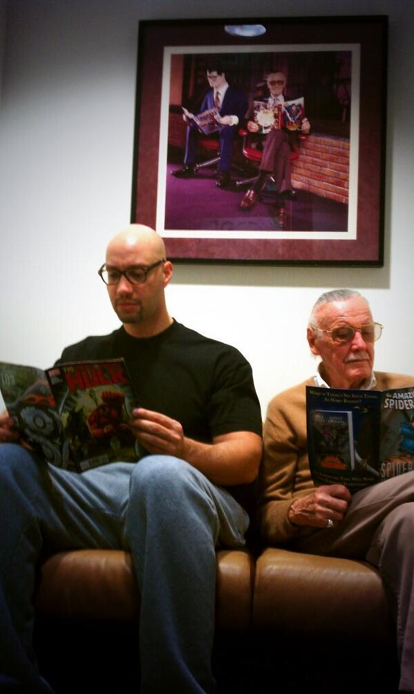 Yes, @TheRealStanLee  and I are longtime study partners. Here's a candid of us cramming for a final exam. #G4M3RL1F3 http://t.co/tbs3aTcMDS