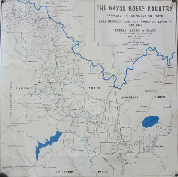 Nathan JrmieBrink on Twitter Map of Bayou Boeuf Country from