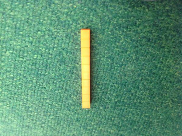 I made ten with a block it had ten squares. Faith #1stnumbertalks http://t.co/ZEZJqYKmRW
