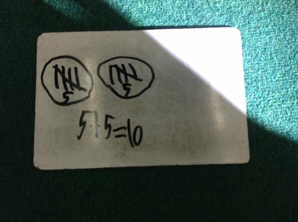 I made ten five + five = ten Ryker #1stnumbertalks http://t.co/qyDporgNQK