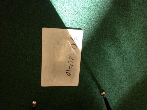 I made ten30-20=10. Alex #1stnumbertalks http://t.co/cNRiFNfBql
