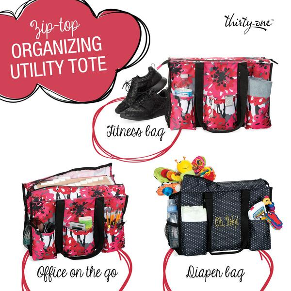 Thirty One On Twitter Our New Zip Top Organizing Utility Tote Is