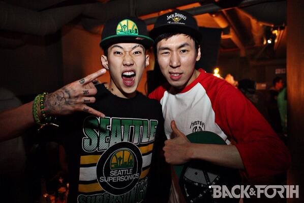 Jay Park and Dj Pumkin #BACKNFORTH @JAYBUMAOM @pumkin2k http://t.co/g7bWOCiHcL