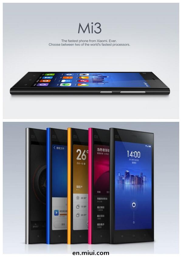 Follow @miuirom &RT this to win a F-code for Xiaomi Mi3 WCDMA! A winner will be announced 17:00 Feb.11 (BJ Time) http://t.co/COhLAJxPdn