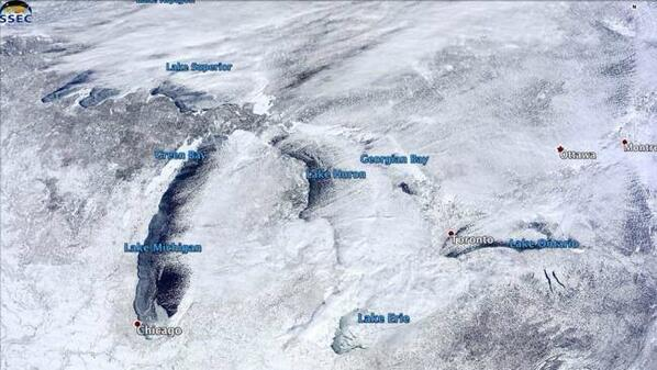 Great Lakes Ice Cover Is The Largest We've Seen This Century (via The Weather Channel): http://t.co/O88p0G1rOO http://t.co/HbLOEMteTE