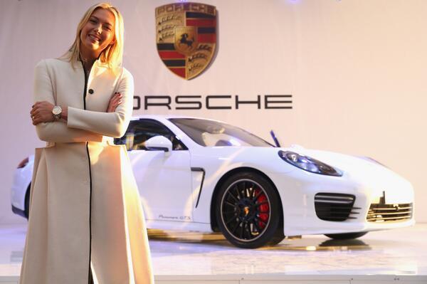 Maria Sharapova and her #Porsche Panamera GTS http://t.co/ahyUDE3mkN http://t.co/JHNp5qgiHd
