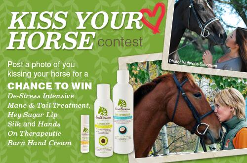 """#EcoLicious """"Kiss Your Horse"""" Valentine's Day Contest. Win EE swag. Contest rules : http://t.co/PQM2VGUJgv http://t.co/qYviKUNy4Q"""