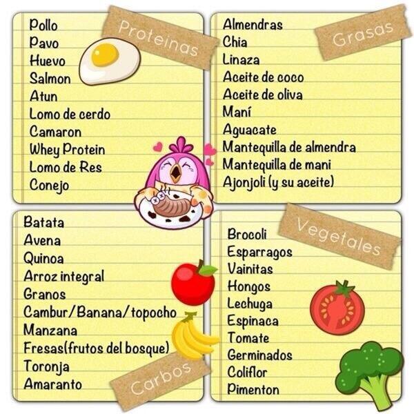 Proteina carbohidratos y grasas
