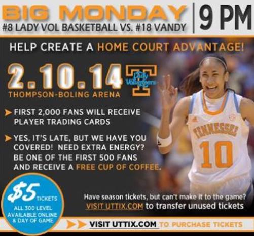 …Don't miss ESPN's Monday Smack Talk w/ me & @MissChantelle for Vandy vs. Tennessee game tonight! #MondaySmackTalk http://t.co/Zr1OnlXYra