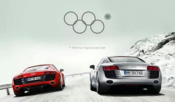 #Audi, when 4 rings is all you need - BRILLIANT! http://t.co/vgDtGU46Ms