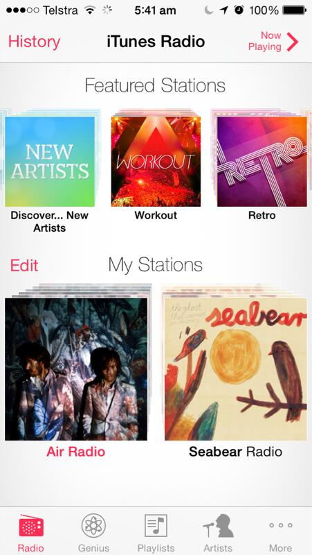 Twitter / jnxyz: iTunes Radio seems to now be ...