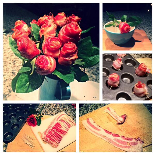 Bacon Roses? There's no better way to spread the #PorkLUV. http://t.co/JwGbrGIuqr