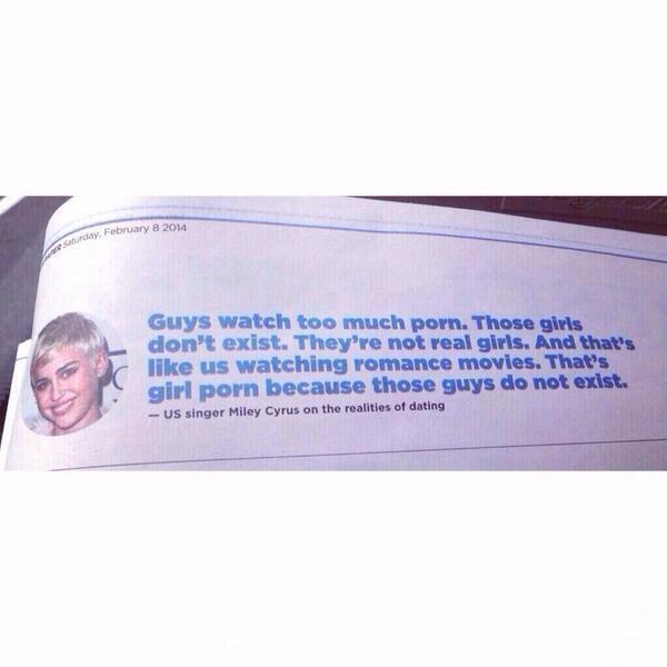Miley preachin'