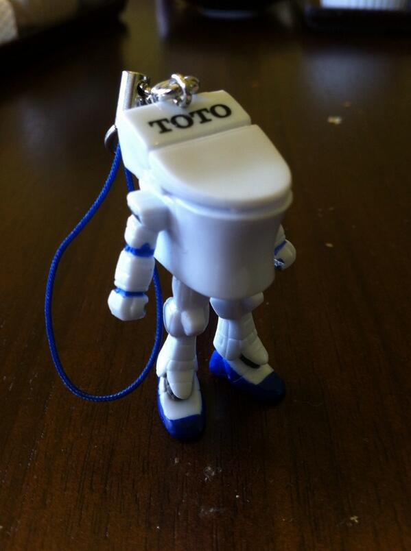 This has got to be the best Japanese corporate mascot ever: a toilet superhero. Hello Toto Man. http://t.co/MThicJ02Cy