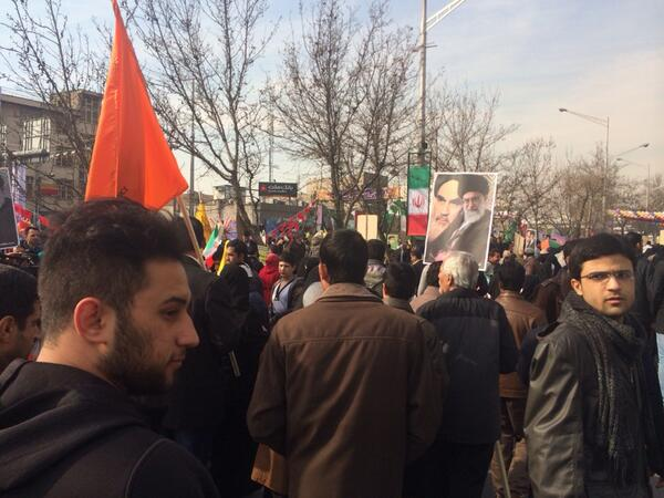 Huge Anti-American Crowds Mark Iran Revolution