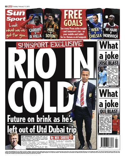 Rio Ferdinand axed from Man United's warm weather training camp in Dubai, set for summer retirement [Sun]