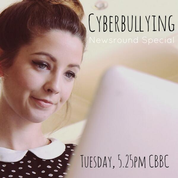 Cyber bullying: A Newsround Special featuring @ZozeeBo is on this afternoon on #CBBC at 5.25pm http://t.co/UYn01204iD
