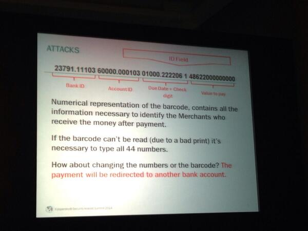 And this is how secure is the most popular payment in Brazil called #boleto #TheSAS2014 http://t.co/Bz3ElB3I58