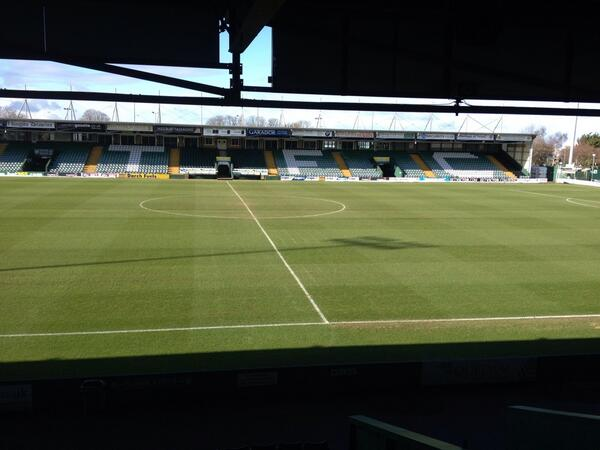 The Huish Park pitch from earlier this morning