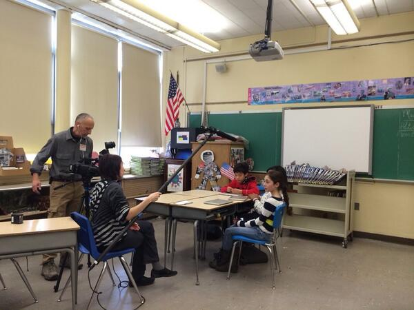 """Awesome! """"@AngelinaShy: #SOMS students being interviewed for PBS documentary on edu technology. http://t.co/0jyBgjYlor"""""""